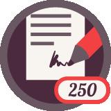 Написал 250 отзывов