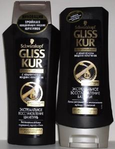"""Шампунь и бальзам для волос Gliss Kur """"Экстремальное Восстановление"""" от Schwarzkopf"""