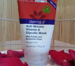 Маска для лица против морщин с витамином А и гликолевой кислотой от Derma E