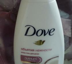 """Гель для душа """"Объятия нежности"""" Кокосовое молочко и лепестки жасмина от Dove"""