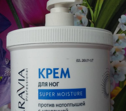 Крем для ног против натоптышей с мочевиной от Aravia Professional
