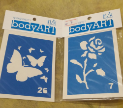 Трафареты Bodyart (№ 7 и 26) от Irisk Professional