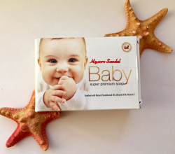 Детское мыло с сандалом BABY Super Premium Soap от Mysore Sandal