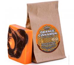 Марокканское натуральное мыло Orange Cinnamon серии Hammam organic oils от Natura Vita