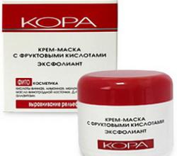 Крем-маска для лица с фруктовыми кислотами эксфолиант от КОРА (3)