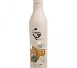 """Бальзам для волос HENNA & GREEN TEA """"Укрепление и сила"""" от Greenini"""