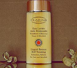 Лосьон для искусственного загара лица и области декольте «Liquid Bronze Self Tanning» от Clarins (1)