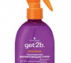 Спрей для волос Got2b - утюжок от Schwarzkopf