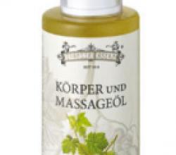 """Органическое антицеллюлитное масло для тела и массажа """"Листок винограда"""" от Dresdner Essenz"""