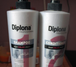 Шампунь и бальзам бережный уход для окрашенных и мелированых волос Your Color от Diplona