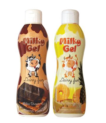 Гель для душа Milky Gel Dairy Fun: Ананас и Шоколад от Dairy Fun