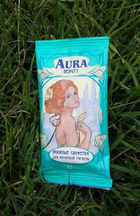 Влажные салфетки для интимной гигиены от Aura beauty