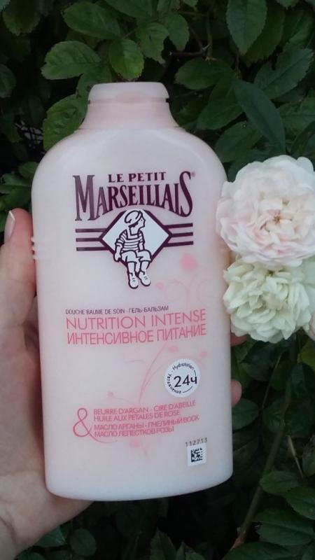 """Гель-бальзам для душа """"Интенсивное питание"""" (масло арганы, пчелиный воск, масло лепестков розы) от Le Petit Marseillais"""