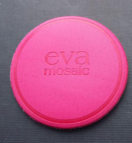 Пуфик для пудры малиновый от Eva mosaic
