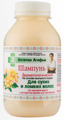 Дерматологический шампунь для сухих и ломких волос от Аптечка Агафьи
