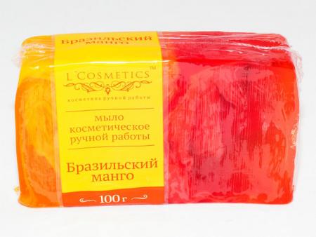 """Мыло косметическое ручной работы """"Бразильский манго"""" от L'Cosmetics"""