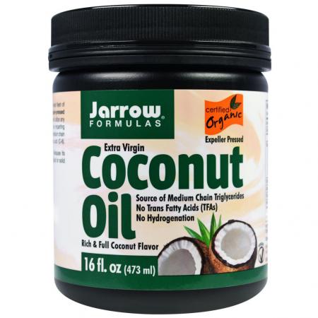 Органическое, кокосовое масло холодного отжима от Jarrow Formulas