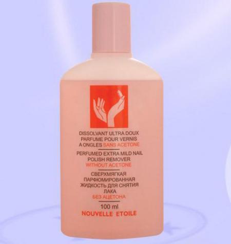 Сверхмягкая парфюмированная жидкость для снятия лака без ацетона от Новая Заря
