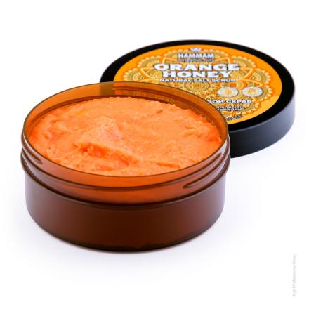 Марокканский натуральный медовый солевой скраб Orange Honey серии Hammam organic oils от Natura Vita