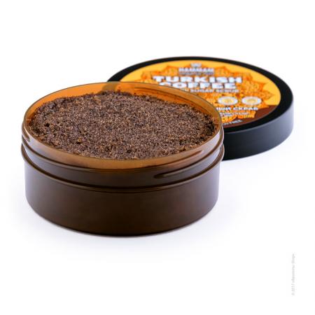 Турецкий натуральный кофейный сахарный скраб Turkish Coffee серии Hammam organic oils от Natura Vita