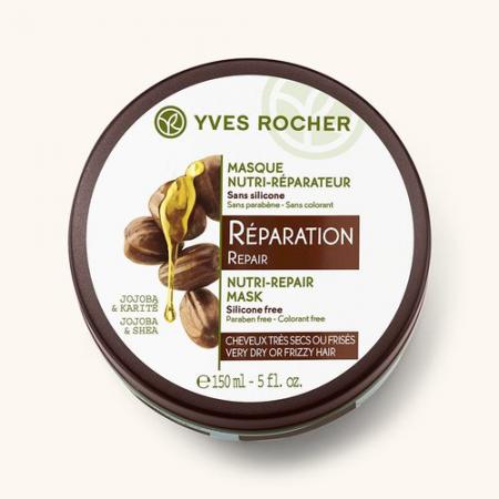 Маска для волос экспресс-восстановление с жожоба и каритэ из серии SOIN VEGETAL CAPILLAIRE от Yves Rocher