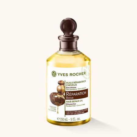 Масло для восстановления волос с бабассу, жожоба и макадамией из серии SOIN VEGETAL CAPILLAIRE от Yves Rocher