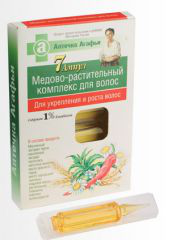 Медово-растительный комплекс для волос от Аптечка Агафьи