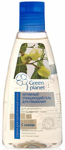 Активный очищающий гель для умывания с нимом от Green Planet