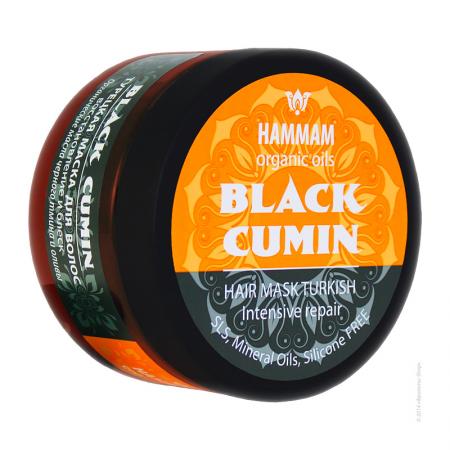 Турецкая маска для волос Black Cumin восстановление и блеск серии Hammam organic oils от Natura Vita