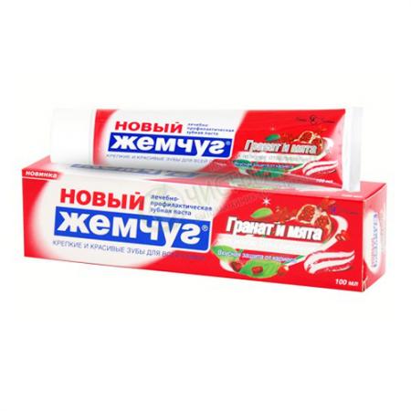 "Зубная паста ""Новый Жемчуг Гранат и Мята + отбеливание"" от Невская косметика"